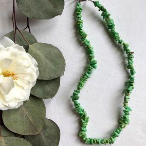 Jewelry - Green stone necklace